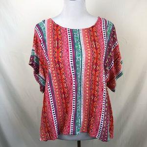 Anthropologie Maeve oversized blouse size medium